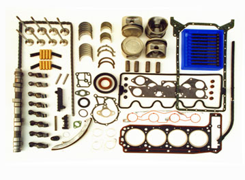 The 'wear & tear' components that are replaced with original equipment